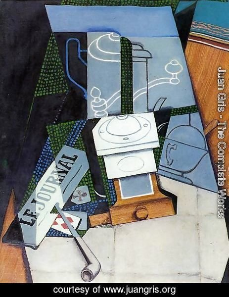 Juan Gris - Newspaper with Coffee Mill