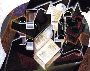 Juan Gris - Book, Pipe and Glasses