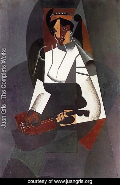 Juan Gris - Woman with a Mandolin (after Corot)