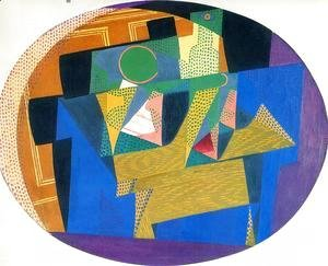 Juan Gris - Fruit Bowl with Bottle I