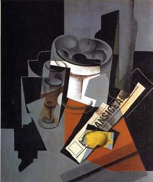 Juan Gris - Still Life with Newspaper