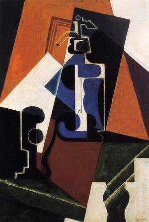 Juan Gris - Seltzer Bottle and Glass