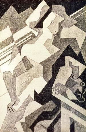 Juan Gris - Harlequin at Table