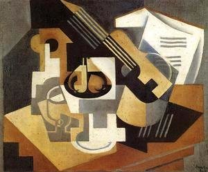Juan Gris - Guitar and Fruit Bowl on a Table