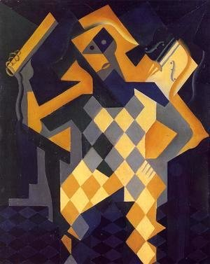 Juan Gris - Harlequin with Violin