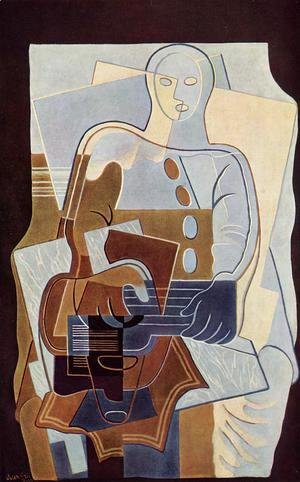 Juan Gris - Pierrot with Guitar