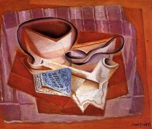 Juan Gris - Bowl, Book and Spoon