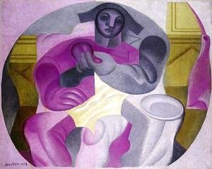 Juan Gris - Seated Harlequin