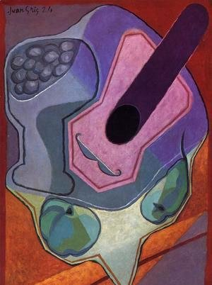 Juan Gris - Violin with Fruit