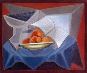 Juan Gris - Fruit and Book