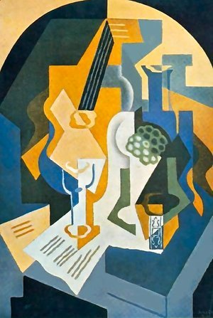 Juan Gris - Still life w fruit and mandolin