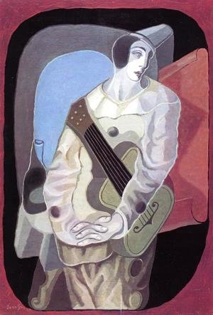 Pierrot with Guitar I