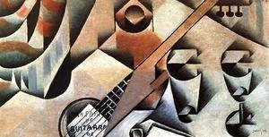 Juan Gris - Guitar and Glasses