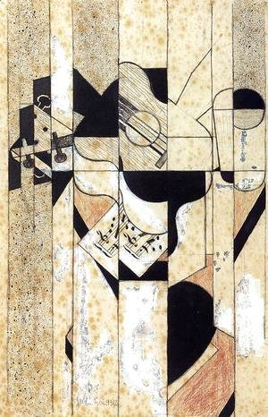 Juan Gris - Guitar and Glass I