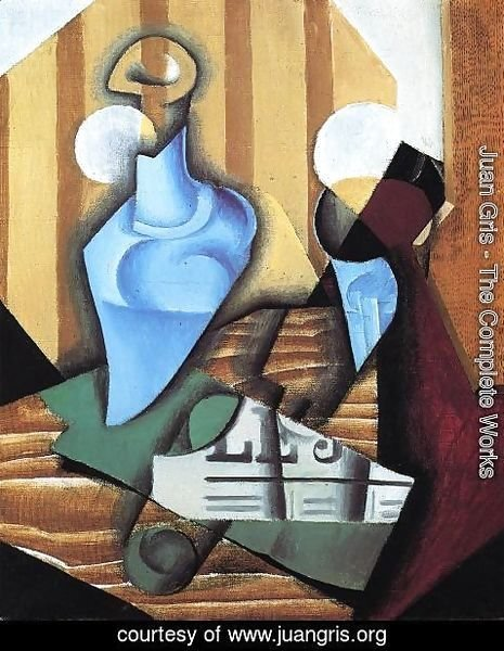 Juan Gris - Still Life with Bottle and Glass