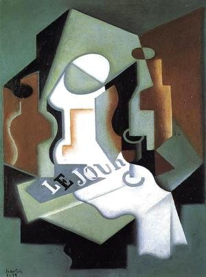 Juan Gris - Bottle and Fruit Dish