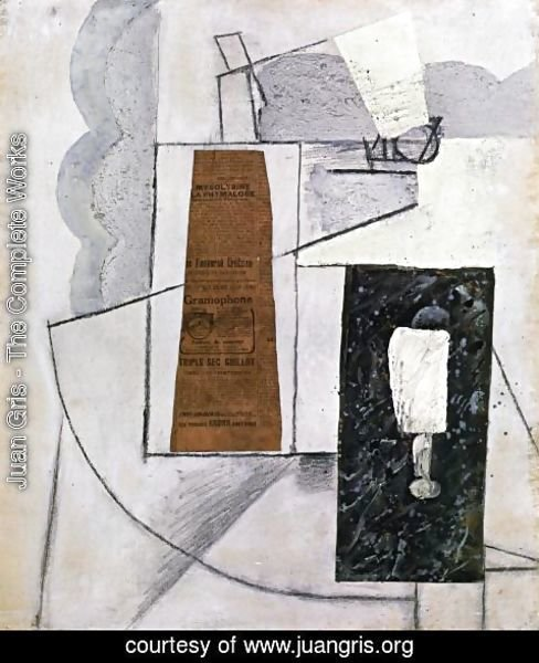Juan Gris - Bottle and Glass I