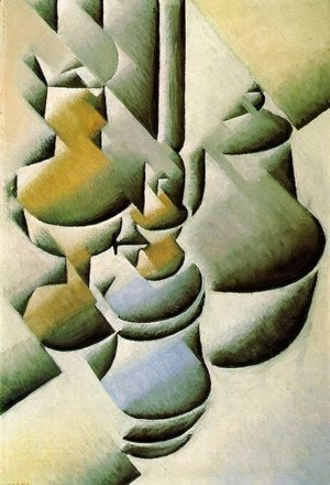 Juan Gris - Still Life with Oil Lamps 1911-1912
