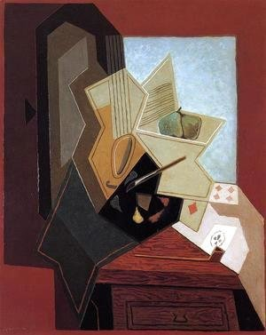 Juan Gris - The Glass (aka The Fruit Bowl) 1914