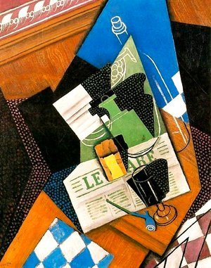 Juan Gris - Waterbottle fruitdish 1915