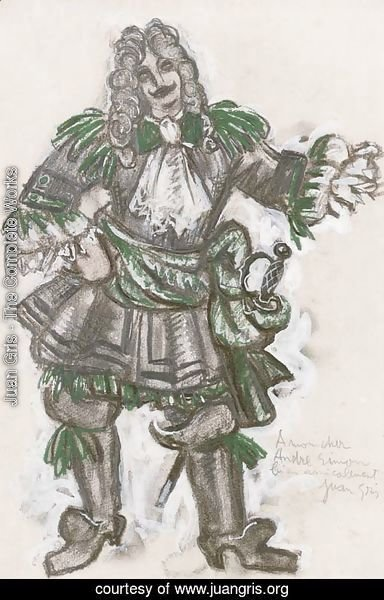 Costume design for a cavalier in 'Les Tentations de la bergere'