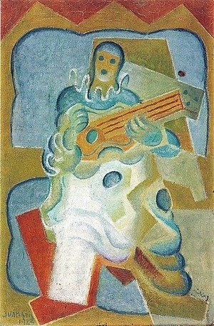 Pierrot Playing Guitar