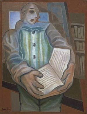 Juan Gris - Pierrot with Book