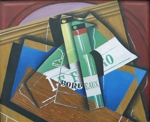 Juan Gris - The Bordeaux bottle