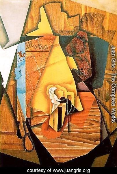 Juan Gris - A Man In A Cafe