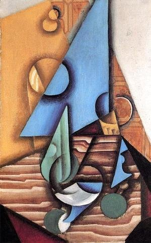 Juan Gris - Bottle And Glass On A Table