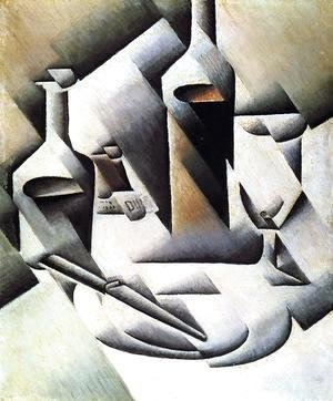 Juan Gris - Bottles And Knife