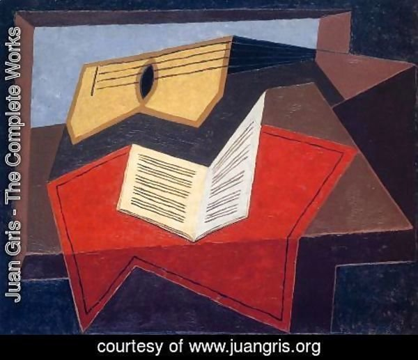 Juan Gris - Guitar And Music Paper
