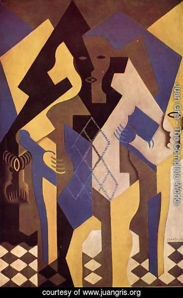 Juan Gris - Harlequin At A Table