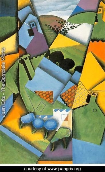 Juan Gris The Complete Works Landscape With Houses At
