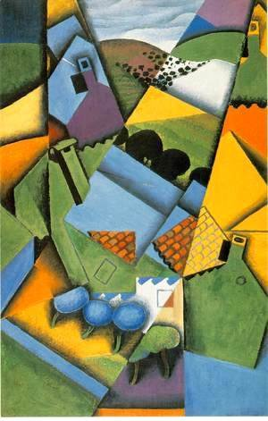 Juan Gris - Landscape With Houses At Ceret