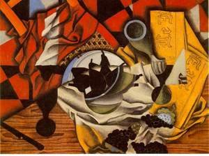 Juan Gris - Pears And Grapes On A Table