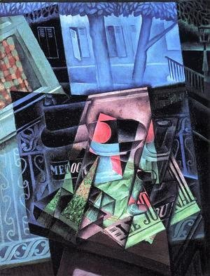 Juan Gris - Still Life Before An Open Window Place Ravignan