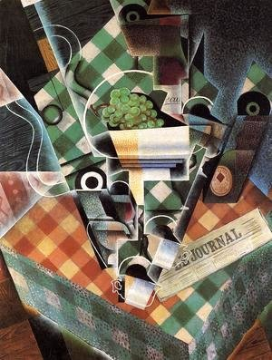 Juan Gris - Still Life With Checked Tablecloth