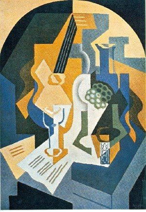 Juan Gris - Still Life With Fruit Dish And Mandolin