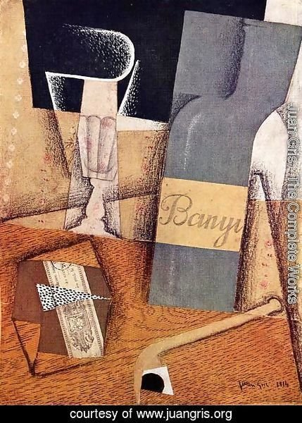 Juan Gris - The Bottle Of Banyuls