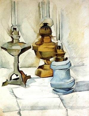 Juan Gris - Three Lamps