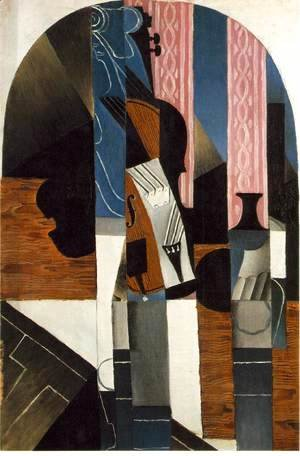 Juan Gris - Violin And Ink Bottle On A Table