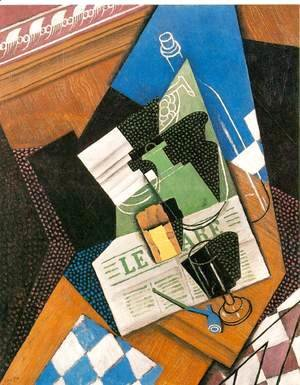 Juan Gris - Water Bottle Bottle And Fruit Dish